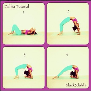 Mom and Yoga Instructor Black Dhalia
