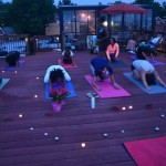 Sunset yoga night