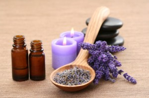 Find a scent that calms you down. Essential oils like lavender lightly settle the mind.