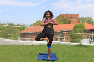 Roots planted. Time to grow. Tree pose at St. Elizabeth's campus.